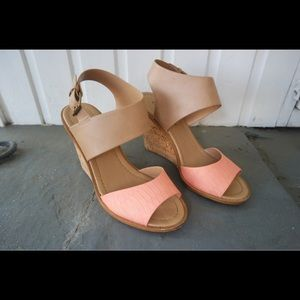Soft leather wedge heels from ModCloth, size 8.5